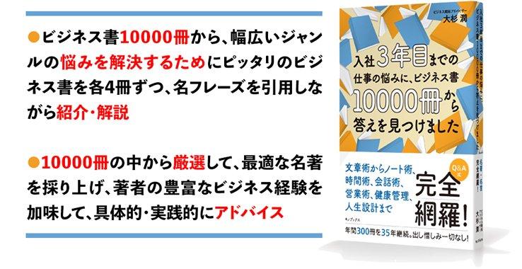 ビジネス書10000冊から、幅広いジャンルの悩みを解決するためにピッタリのビジネス書を各4冊ずつ、名フレーズを引用しながら紹介・解説